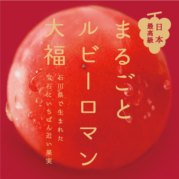PROMOTION/プロモーション プロモーション|石川県金沢市「中越」さんの「まるごとルビーロマン大福」WEBサイト